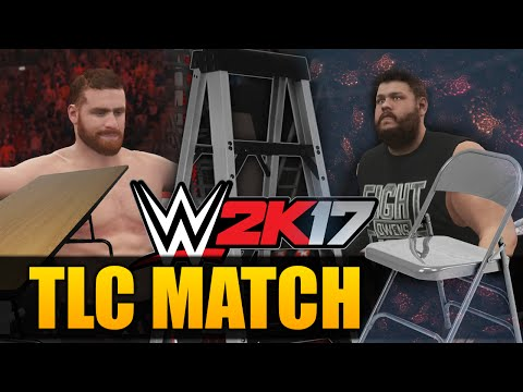 WWE 2K17 TLC MATCH OWENS VS ZAYN!