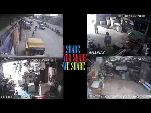Live Footage CCTV sa 7.2 magnitude earthquake Bohol & Cebu City Philippines - October 14, 2013