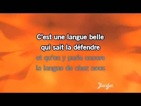Karaoké La Langue De Chez Nous - Yves Duteil *