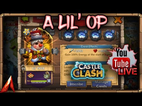 Castle Clash Lil' Nick LiveStream! Double Evolved! A Lil' OP!