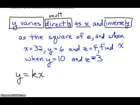 Joint and Combined Variation Word Problems (solutions ...