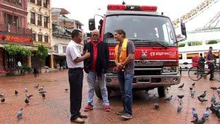 Sopranos actor kicks off Nepal fire truck expedition