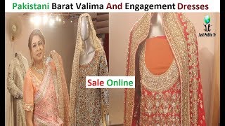 Pakistani Latest Stylish Wedding Dresses For Engagement Barat And Valima Dresses || Sale Online