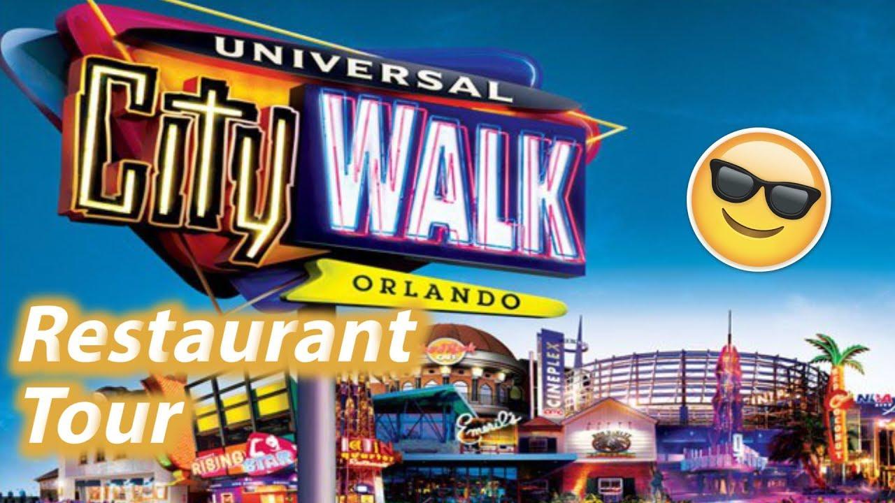 Restaurant Tour Of Universal Citywalk Orlando Universal Studios Dining Plan Options