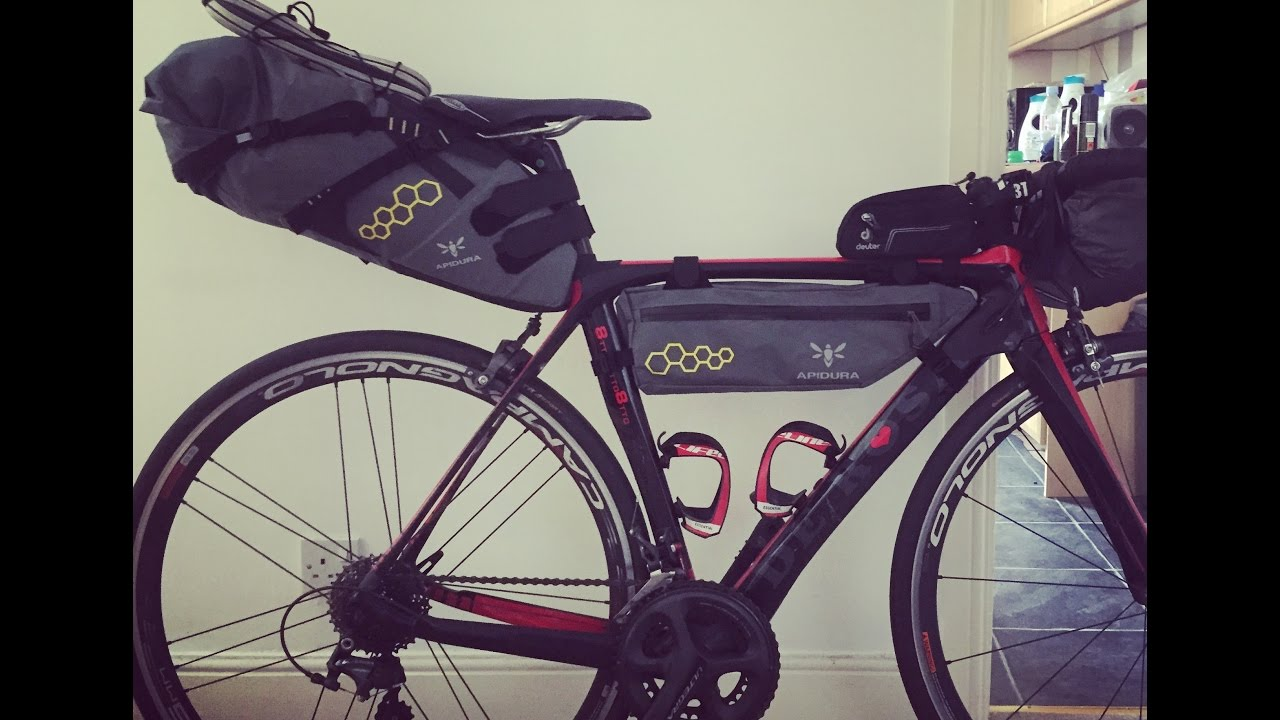 Ultra Lightweight Cycle Touring Apidura Saddle Pack