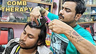 Different Style massage with various types of comb for ultimate relaxation   Indian ASMR