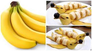 Banana Dolphins - Banana Art - Fruit Carving Banana Garnishes