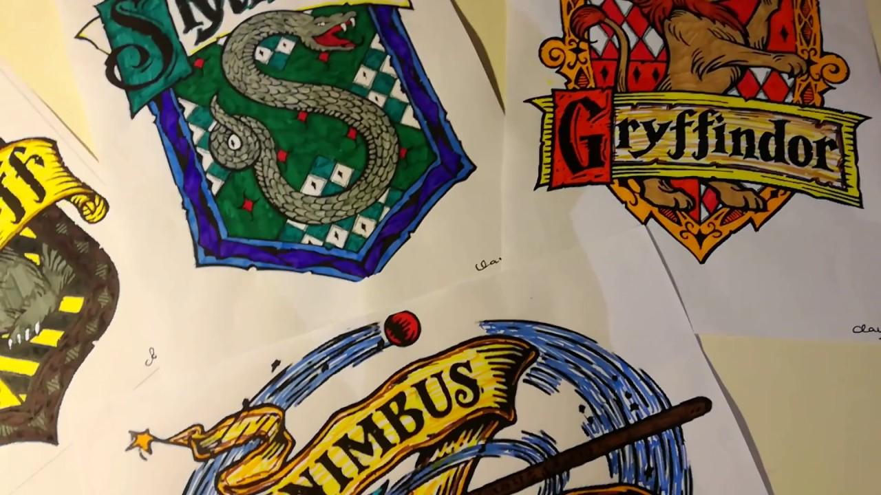 Ecco Come Ho Colorato I Disegni Di Harry Potter