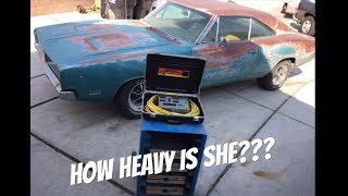 What does a 1969 Big block 440 Dodge Charger weigh??? We find out