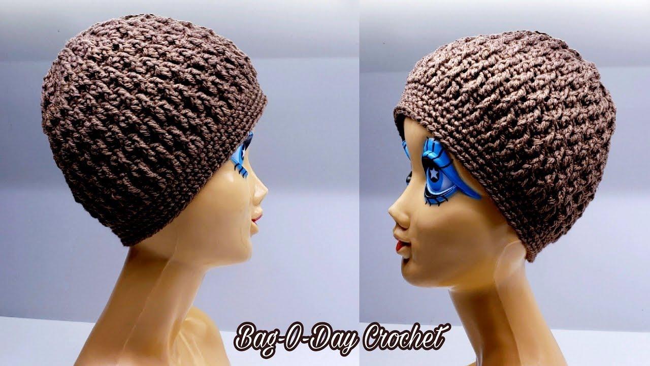 0d1f781b21b How To Crochet A Unisex Hat - Coffee Beanie