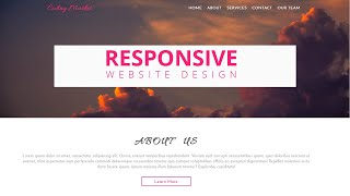How to Make a Responsive Website Using Pure HTML and CSS | Step By Step From Scratch