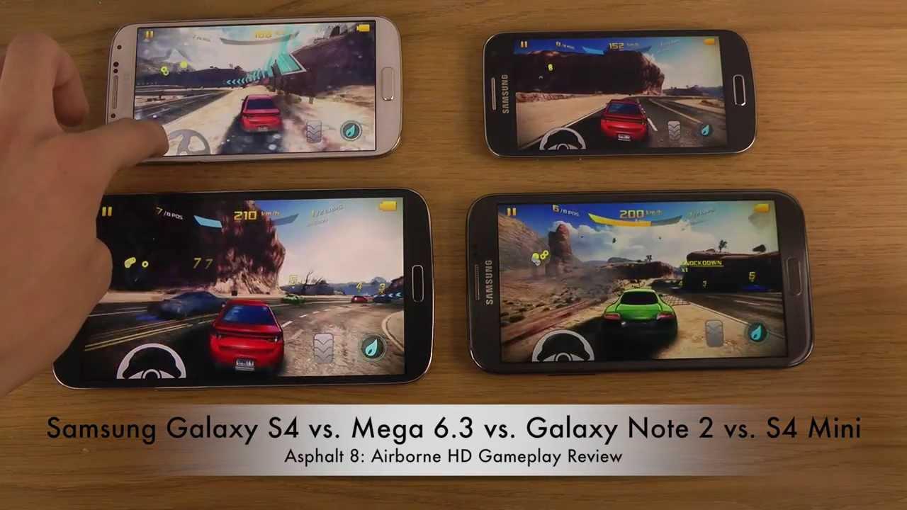 Samsung Galaxy S4 vs. Mega 6.3 vs. Galaxy Note 2 vs. S4 ...