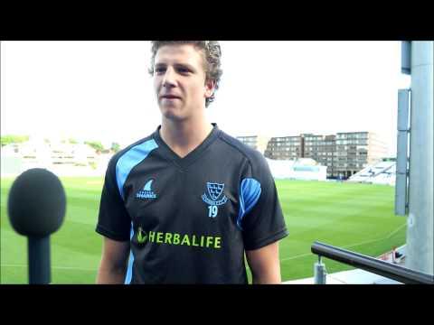 Sussex TV - Matthew Hobden looks back on his Championship debut