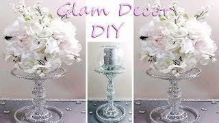 Dollar Tree DIY Glam Tiered Wedding Centerpiece