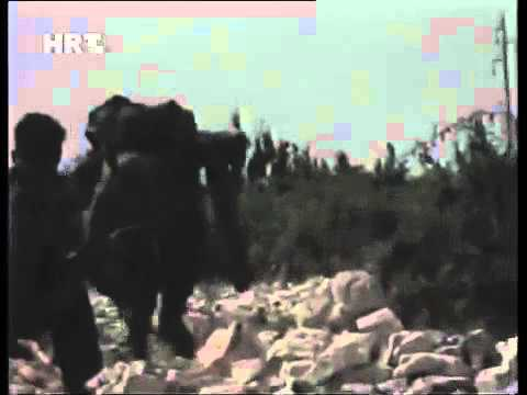 """Croatian Army attacked on their way to Benkovac. Operation """"Storm"""" 1995."""
