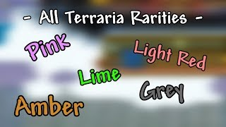 Terraria - Rarity Levels in Terraria Explained