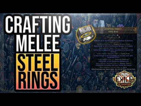 PoE [3.14] Crafting ENDGAME Melee Physical Rings with Vulnerability and Mana Cost