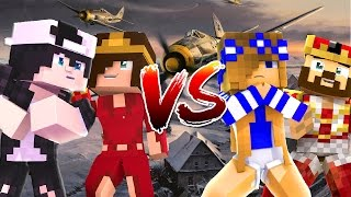 LITTLE CARLY AND RAVEN GO TO WAR | Minecraft Custom Roleplay