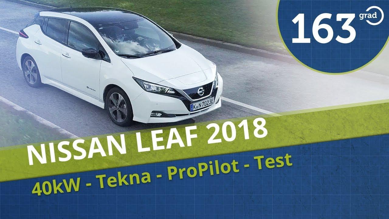 nissan leaf tekna 2018 (40 kwh) test deutsch - aufladen, reichweite