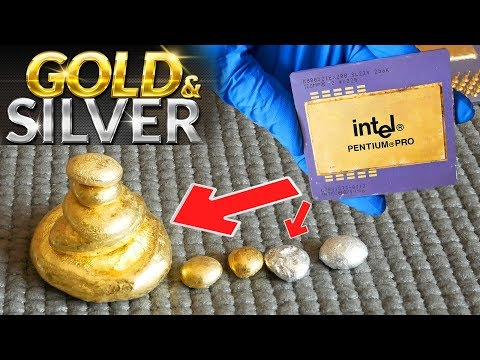 How To Recycle Gold And Silver From Cpu Computer Scrap | Old CPU Scrap Gold Value