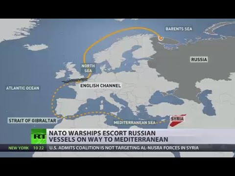 NATO, EU ships 'mark' Russian fleet as it passes through English Channel