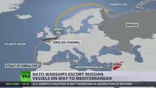 NATO, EU ships 'mark' Russian fleet as it passes through English Channel