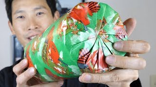 Gift Wrap a Cylinder with No Tape!