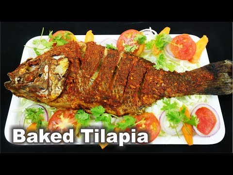 Baked Tilapia Fish - Tandoori Tilapia Fish - Easy & Simple Recipe