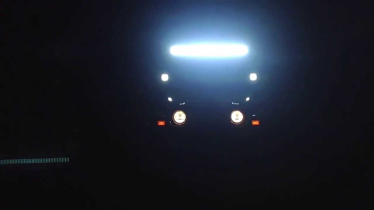 180w led spot light bar and 27w led flood lights youtube mozeypictures Images