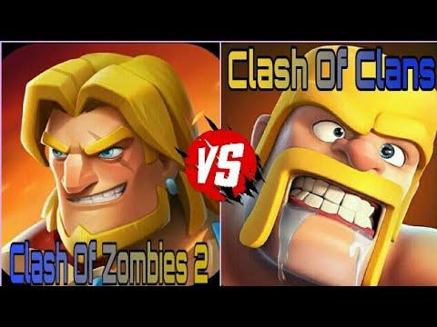 Clash Of Zombies 2 Vs Clash Of Clans|COZ 2 Vs COC