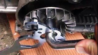 XMAX 125/250 Comment démonter changer variateur, courroie, galets, embrayage et correcteur