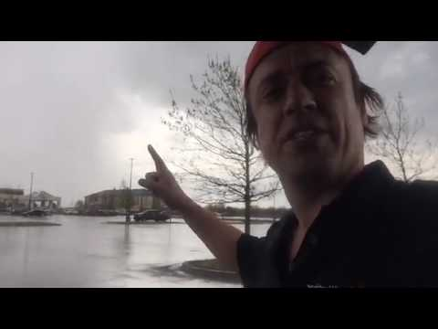 Footage of severe thunderstorm warning in Norman Oklahoma