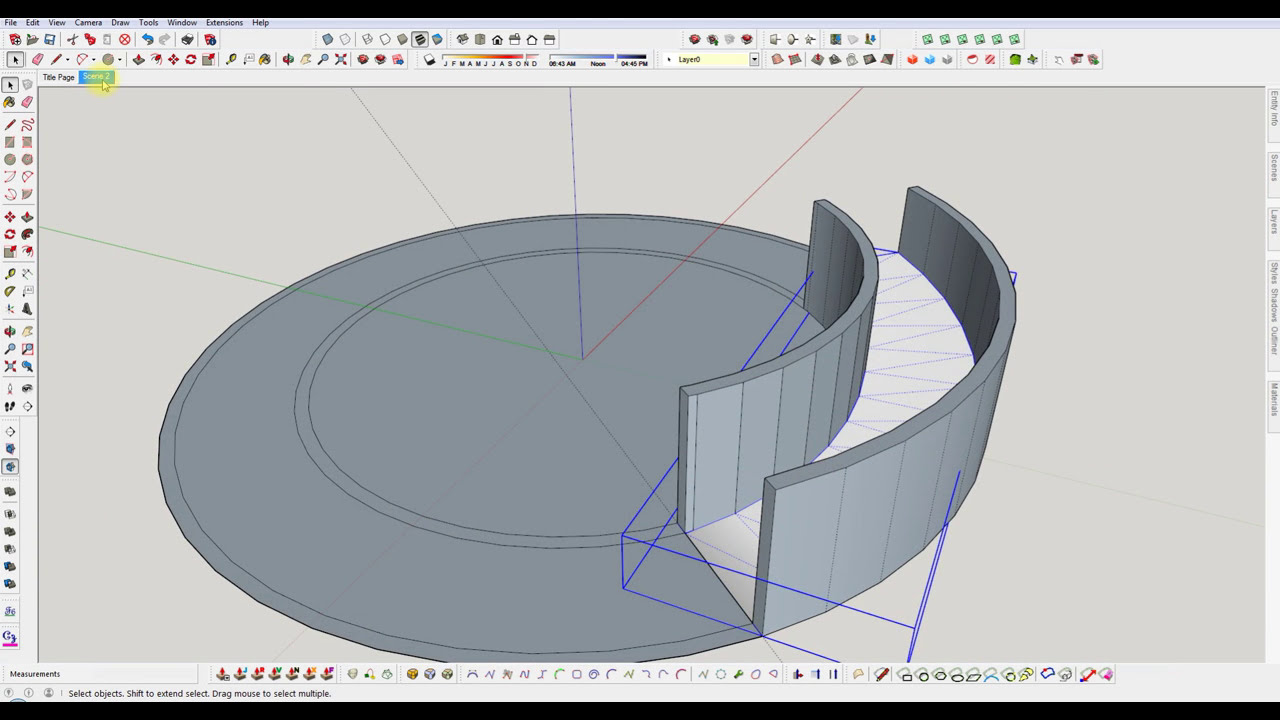 Sketchup build a semi circular ramp youtube for House plans you can add onto later
