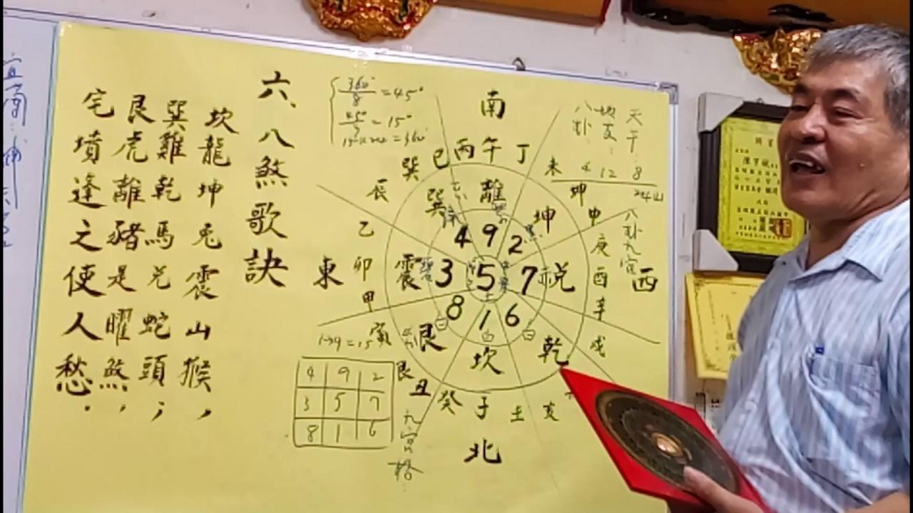 堪輿學看風水地理 part2 羅盤與八煞歌訣 - YouTube