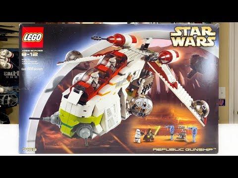 LEGO Star Wars 7163 Republic Gunship Review! (2002)