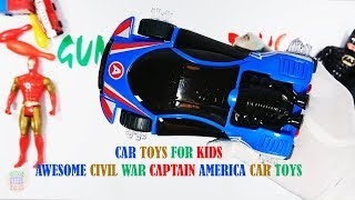 Car Toys For Kids - Awesome Civil War Captain America Car Toys For Kids Playing With Sound