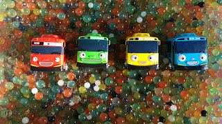 Box Full Of Toy Cars and Water Beads Orbeez water