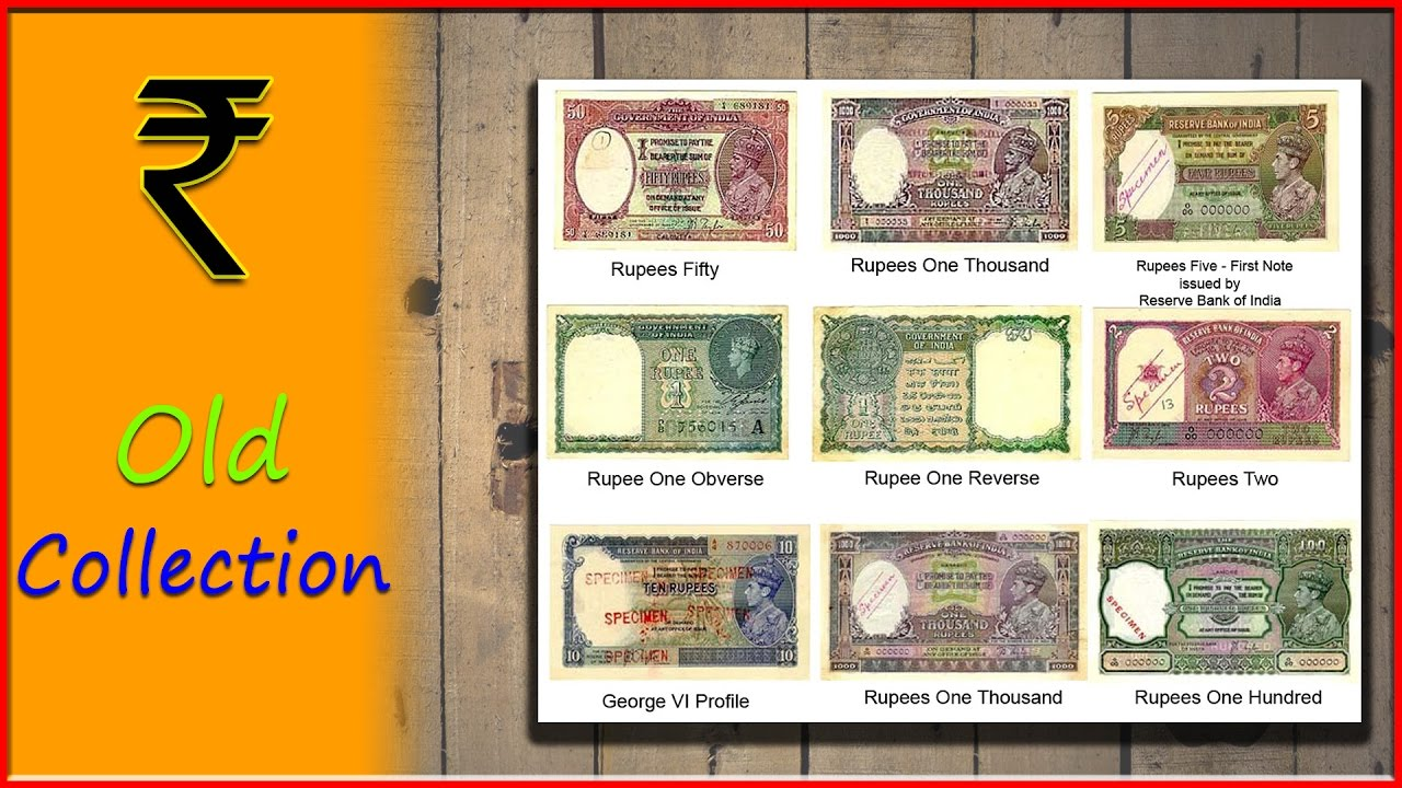 Old Indian Notes Collection Rare Currency | The Zoom Life  Collection Note