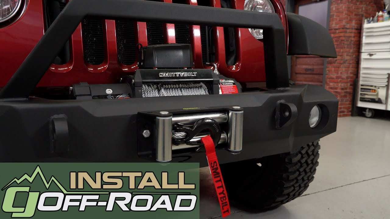 smittybilt winch install jeep wrangler jk smittybilt xrc. Black Bedroom Furniture Sets. Home Design Ideas
