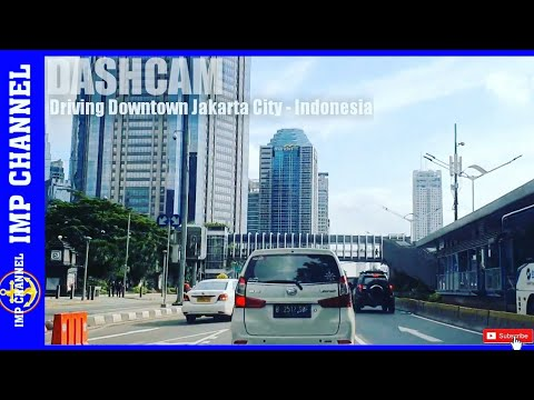 Dashcam Driving Downtown Jakarta City - Indonesia