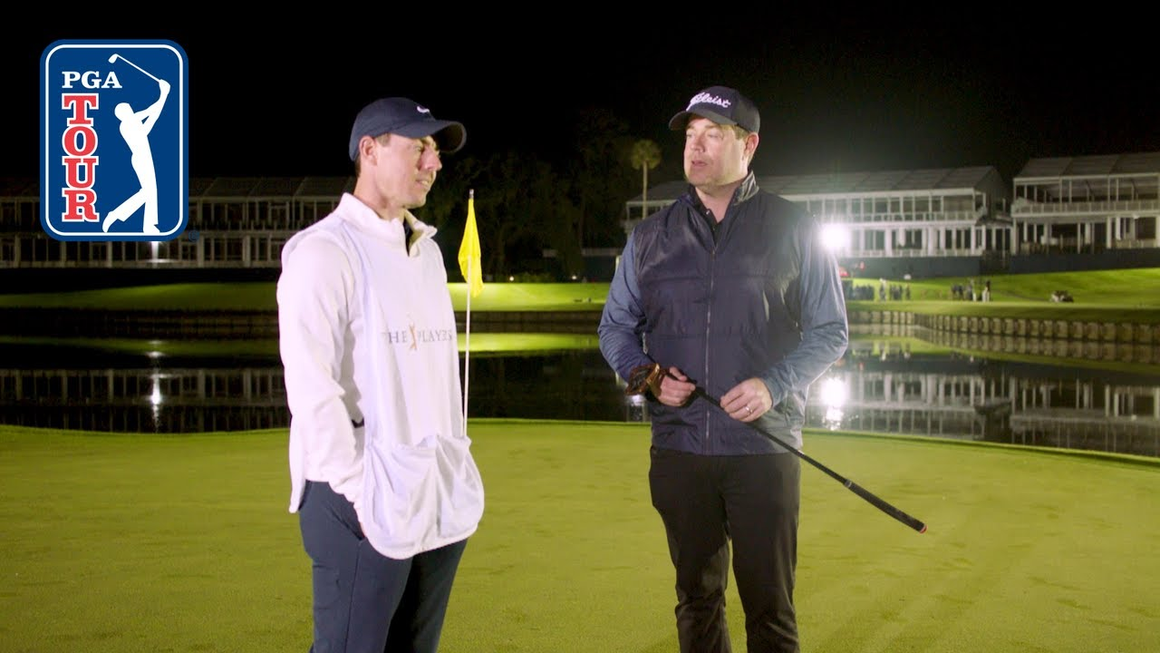 Rory McIlroy and Carson Daly play No. 17 at TPC Sawgrass