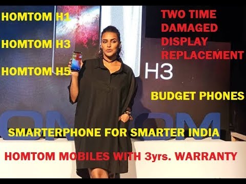 HOMTOM H1, H3 & H5 MOBILES WITH  3YR WARRANTY LAUNCHED IN INDIA - PRICE & SPECs.