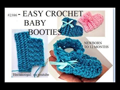 How to Crochet Very Easy Baby Booties