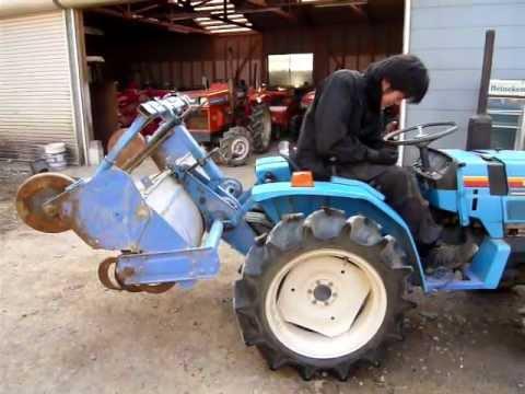 Mitsubishi MT14D japán kistraktor, Japanese compact tractor at the