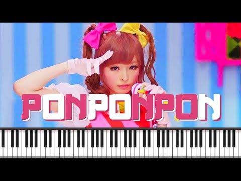 Synthesia [Piano Tutorial] きゃりーぱみゅぱみゅ - PONPONPON - Kyary Pamyu Pamyu