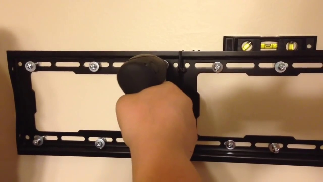 How To Hang A Tv On The Wall how to wall mount a tv with no studs! drywall / sheetrock - youtube