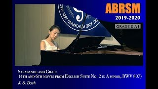 Gambar cover [青苗琴行 x 香港演藝精英協會] ABRSM Piano 2019 - 2020 Grade 8 A1 Sarabande And Gigue