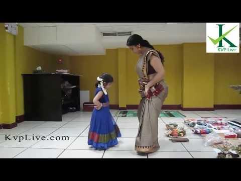 Asha Sarath teaching First Dance to Cute Aghosha
