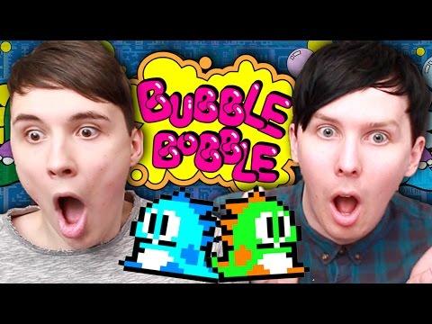 PHIL'S CHILDHOOD ADVENTURE! - Dan vs. Phil: Bubble Bobble