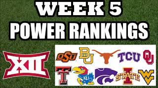 Big 12 Week 5 Power Rankings - College Football